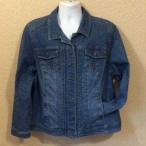 bcd125fc18f Dress barn Women's 2X classic blue jean jacket